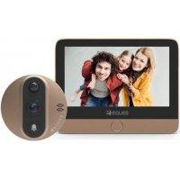 Дверной gsm wi-fi видеоглазок с монитором и записью по движению EQUES A27 VEIU mini 2
