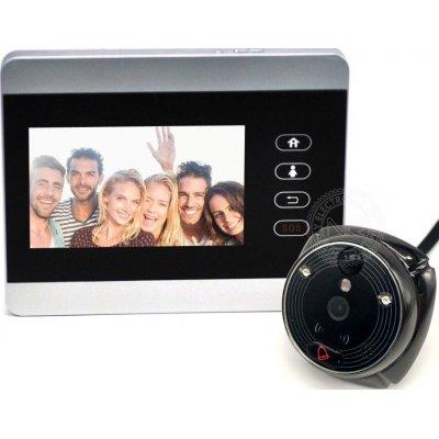 Дверной gsm wi-fi видеоглазок с монитором и записью по движению iHome-5