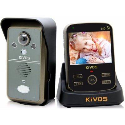 Беспроводной видеодомофон с датчиком движения и записью фото Kivos Black KDB300 (ФОТО-302)