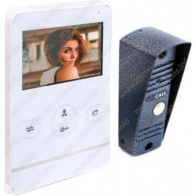 Проводной цветной Handsfree видеодомофон с записью по движению HDcom W-402