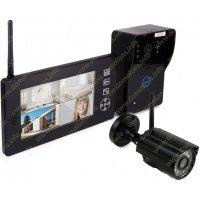 Беспроводной видеодомофон с дополнительной уличной камерой Skynet VD-801