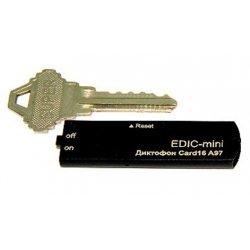 Цифровой скрытый мини диктофон с активацией голосом Edic-mini CARD16 A97M