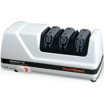 Компактная 3-х этапная электрическая ножеточка Chefs Choice CC120