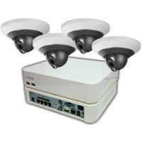 Цифровой PoE IP комплект видеонаблюдения IVUE Office IP 4CH на 4 HD камеры