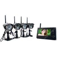 Беспроводной IP видеокомплект c записью на 4 камеры Квадро Склад Автоном мини