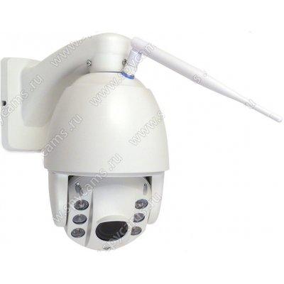 Уличная поворотная купольная Wi-Fi IP камера 2 МП с 4х увеличением Link-SD-37W