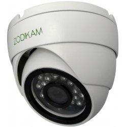 Купольная антивандальная IP POE камера 2Mp для улицы и помещений Zodikam 3242
