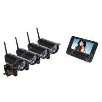 Беспроводной комплект видеонаблюдения уличный на 4 камеры Квадро Стрит LCD