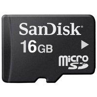 Карта памяти для записывающих устройств формата micro SD и объемом 16 Гб