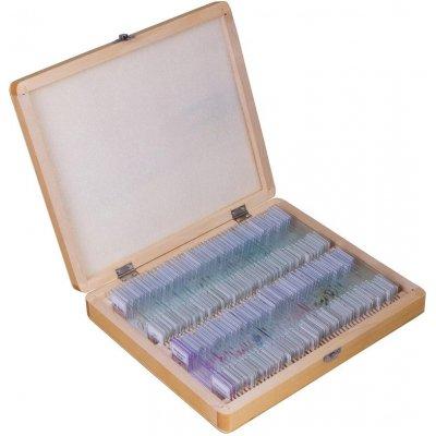 Набор микропрепаратов для микроскопа Bresser (Брессер) 100 шт., в кейсе