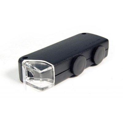 Биологический карманный микроскоп для пайки Bresser (Брессер) 60x–100x со светодиодной подсветкой