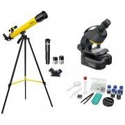 Набор детский телескоп 45/600 AZ и микроскоп 40–460x Bresser (Брессер) National Geographic