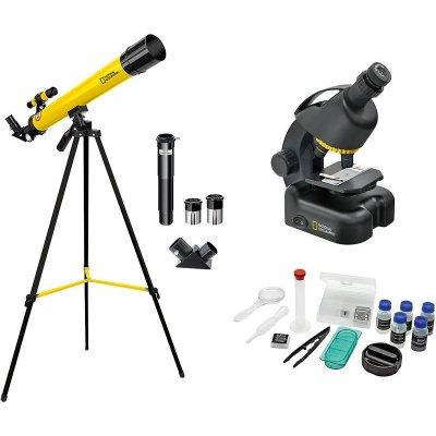 Набор детский телескоп 50/600 AZ и микроскоп 40–640x Bresser (Брессер) National Geographic