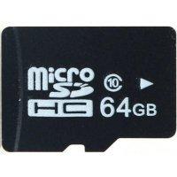 Карта памяти для записывающих устройств формата micro SD и объемом 64 Гб