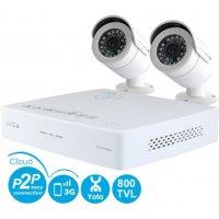 Проводной видеокомплект на 2 камеры с качеством 800 ТВЛ IVUE Mini Pro 2CH