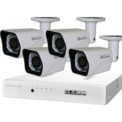 Комплект AHD видеонаблюдения IVUE Дача проводной на 4 уличные камеры Full HD