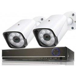 Проводной комплект видеонаблюдения на 2 уличные камеры IVUE Street AHD 2CH