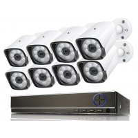 Цифровой комплект IP видеонаблюдения на 8 камер IVUE Street POE