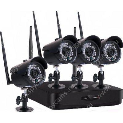 Беспроводной уличный комплект видеонаблюдения на 4 камеры Kvadro Vision 50 cent