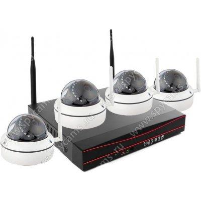 Беспроводной комплект видеонаблюдения на 4 внутренние камеры Kvadro Vision Home