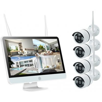 Цифровой Wi-Fi IP комплект видеонаблюдения для улицы на 4 или 8 камер Kvadro Vision I-Stiv 15 Street