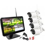 Беспроводной комплект видеонаблюдения для улицы на 4 камеры Kvadro Vision Street MiB