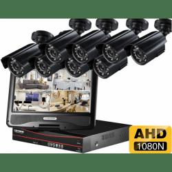 Проводной AHD комплект видеонаблюдения на 8 камер Longse AHD LCD 8CH