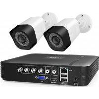 Проводной AHD комплект видеонаблюдения 2Mp на 2 камеры Longse AHD Light 2CH