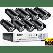 Проводной AHD комплект видеонаблюдения на 8 камер Longse AHD Light 8CH