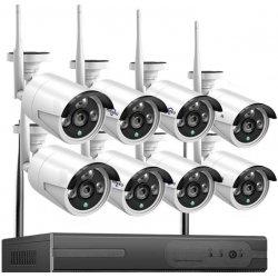 Цифровой беспроводной Wi-Fi комплект видеонаблюдения на 8 камер со звуком Longse Light 8CH