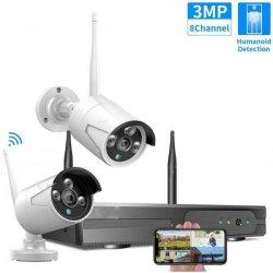Цифровой комплект Wi-Fi видеонаблюдения на 2 камеры 3Mp со звуком Longse Light 2CH