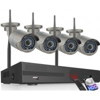 Беспроводной цифровой Wi-Fi комплект видеонаблюдения на 4(8) камер со звуком Millenium LS4NVR4