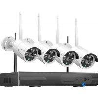 Беспроводной комплект видеонаблюдения цифровой со встроенным Wi-Fi роутером Longse Light 4CH