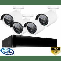 Цифровой проводной IP POE комплект видеонаблюдения на 4 камеры Longse light POE 4CH
