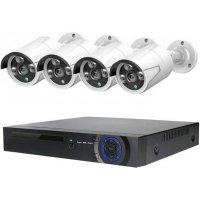 Цифровой IP POE комплект видеонаблюдения на 4 камеры со звуком MiCam KIT-4212 Audio