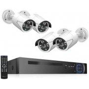 Цифровой IP POE комплект видеонаблюдения на 4(8) камер со звуком MiCam KIT-4212 Audio