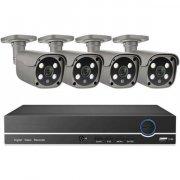 Цифровой IP POE комплект видеонаблюдения на 4 камеры 5Mp со звуком MiCam KIT-5044P