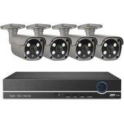 Цифровой IP POE комплект видеонаблюдения на 4(8) 5Mp камер со звуком MiCam KIT-5048P