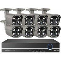 Цифровой IP POE комплект видеонаблюдения на 8 камер 5Mp со звуком MiCam KIT-5048P