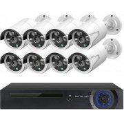 Цифровой IP POE комплект видеонаблюдения на 8 камер со звуком MiCam KIT-8212 Audio