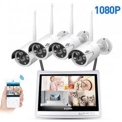 Цифровой wi-fi комплект видеонаблюдения 1080p на 4(8) камер MiCam LCD Street