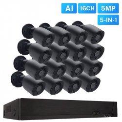 Проводной 5Mp AHD комплект видеонаблюдения на 16 камер MiCam MVL 5016A