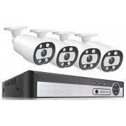 Цифровой IP POE комплект видеонаблюдения на 4(8) уличные камеры 5Mp Micam Security 5058P