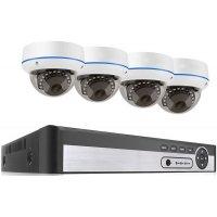 Цифровой IP POE комплект видеонаблюдения на 4(8) купольных камеры 5Mp MiCam Security KIT-5068P