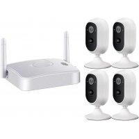 Беспроводной автономный комплект видеонаблюдения 3Mp на 4 камеры MiCam Security Smart 3034