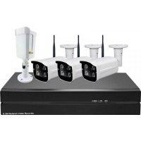 Цифровой IP Wi-Fi комплект видеонаблюдения на 4(8) камер для улицы и дома Millenium 2048W