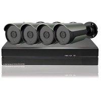 Цифровой IP POE комплект видеонаблюдения на 4 камеры 5Mp со звуком Millenium 5044P