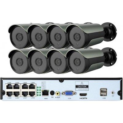 Цифровой комплект видеонаблюдения на 8 уличных 2Mp (1080p) POE камер Millenium 2208P