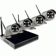 Цифровой Wi-Fi комплект видеонаблюдения на 4 камеры 3Mp со звуком Millenium LS48