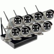 Цифровой Wi-Fi комплект видеонаблюдения на 8 камер 3Mp со звуком Millenium LS48NVR8